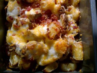 запеканка с картофи и бекон