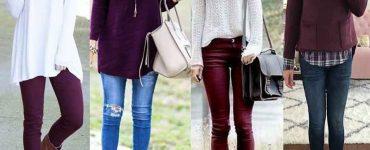 Виненият цвят в облеклото